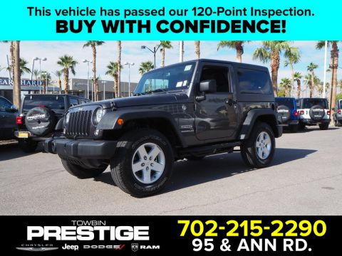 Pre-Owned 2017 JEEP WRANGLER SPORT 4X4